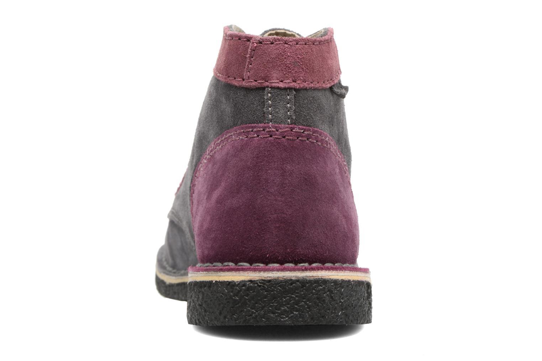 Zapatos con cordones Kickers Legendoknew Gris vista lateral derecha