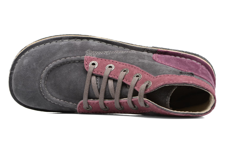 Zapatos con cordones Kickers Legendoknew Gris vista lateral izquierda