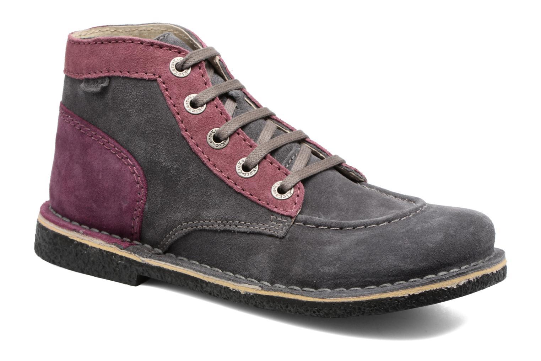 Zapatos con cordones Kickers Legendoknew Gris vista de detalle / par