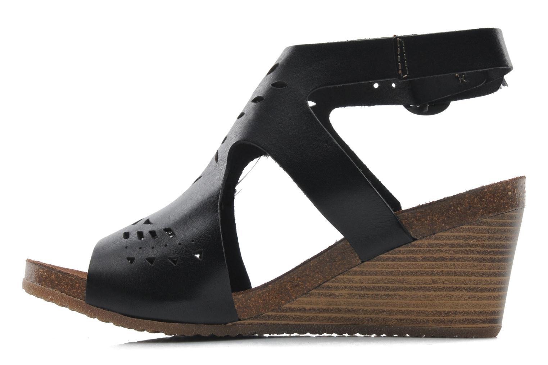 Sandales et nu-pieds Kickers Sperfo Noir vue face