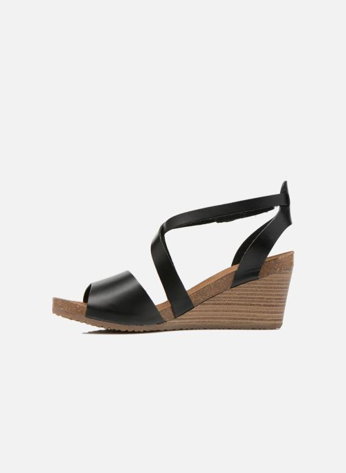 Sandalen Kickers Spagnol schwarz ansicht von vorne