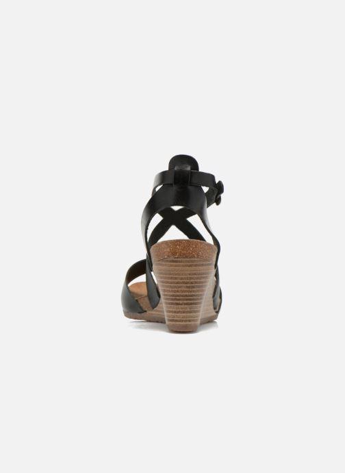 Sandalen Kickers Spagnol schwarz ansicht von rechts