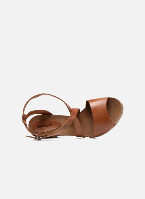 Sandalen Kickers Spagnol braun ansicht von links