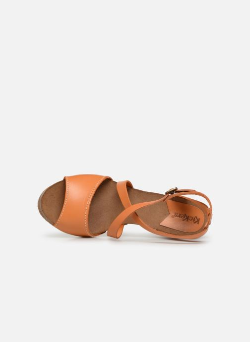 Sandalen Kickers Spagnol Oranje links
