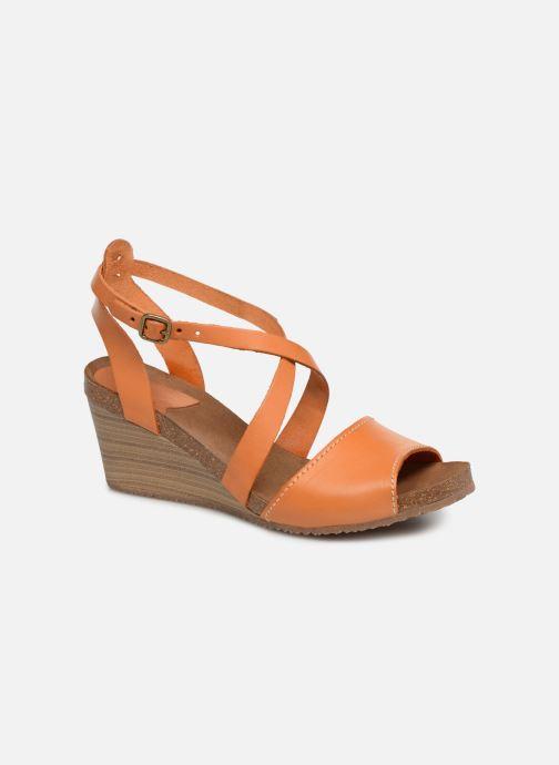 Sandales et nu-pieds Kickers Spagnol Orange vue détail/paire