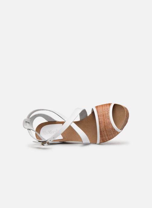 Sandales et nu-pieds Kickers Spagnol Blanc vue gauche