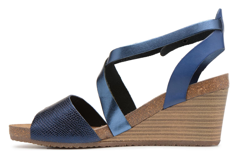 Sandales et nu-pieds Kickers Spagnol Bleu vue face