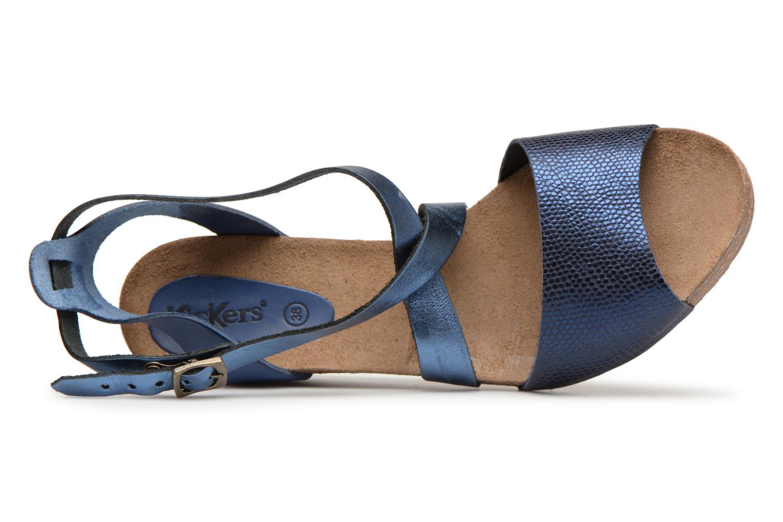 Sandales et nu-pieds Kickers Spagnol Bleu vue gauche