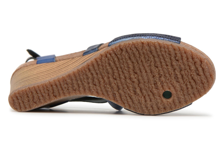 Sandales et nu-pieds Kickers Spagnol Bleu vue haut