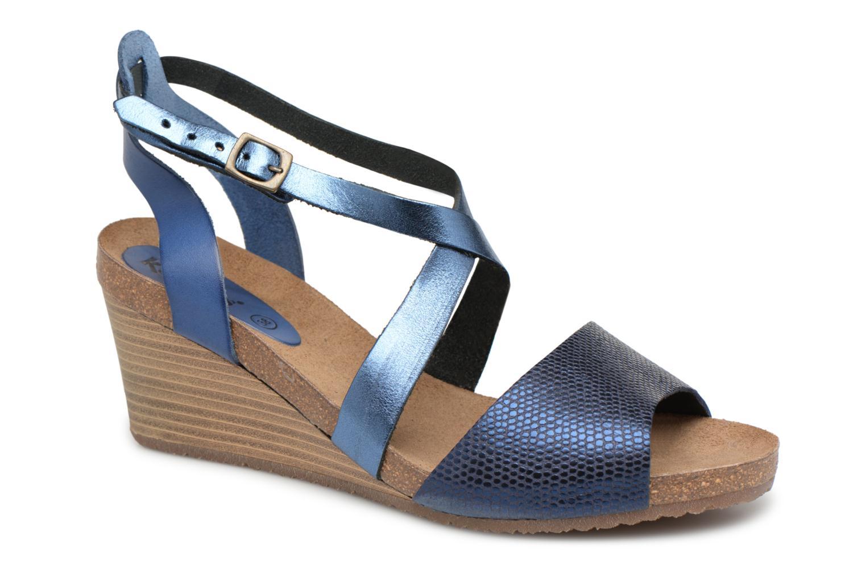 Sandales et nu-pieds Kickers Spagnol Bleu vue détail/paire