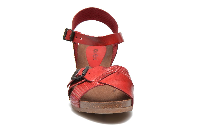 Sandales et nu-pieds Kickers Spanish Rouge vue portées chaussures