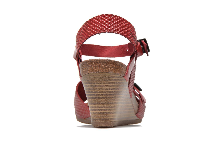 Sandales et nu-pieds Kickers Spanish Rouge vue droite
