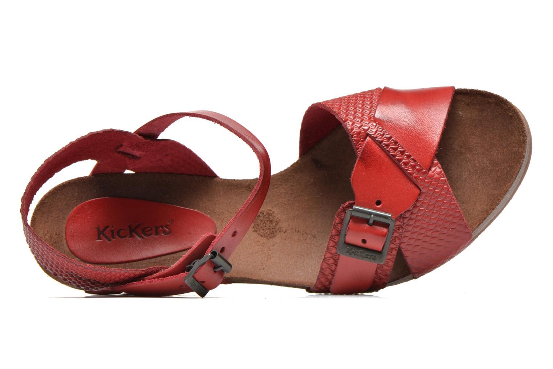 Sandales et nu-pieds Kickers Spanish Rouge vue gauche