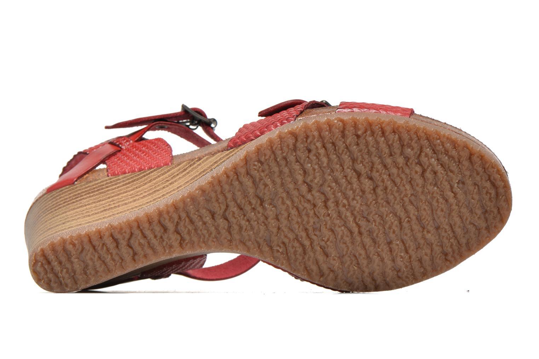 Sandales et nu-pieds Kickers Spanish Rouge vue haut