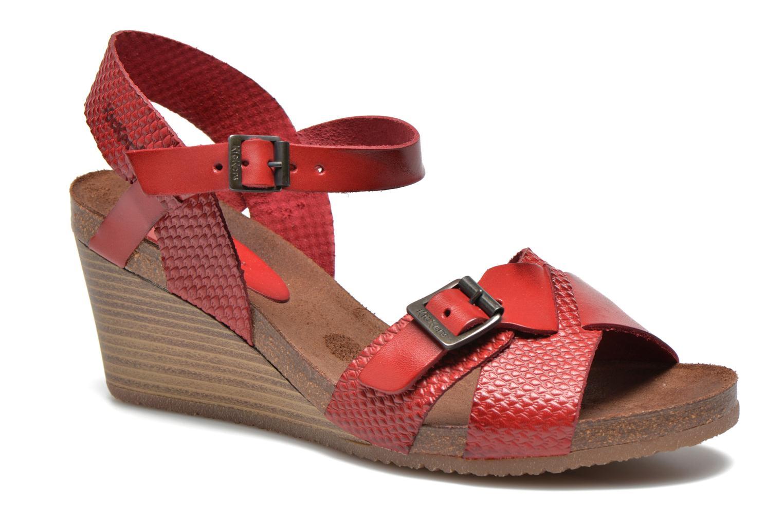 Sandales et nu-pieds Kickers Spanish Rouge vue détail/paire