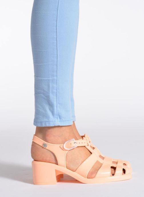 Sandales et nu-pieds Méduse Nikita Argent vue bas / vue portée sac
