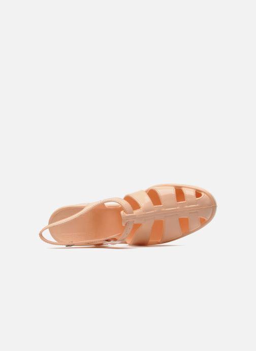Sandales et nu-pieds Méduse Nikita Orange vue gauche