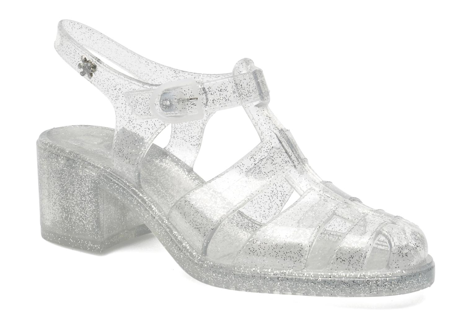 Sandals Méduse Nikita Silver detailed view/ Pair view