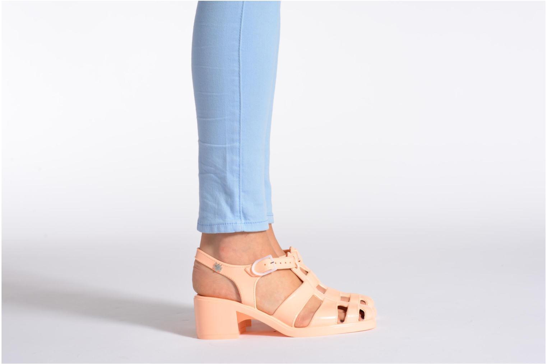 Sandales et nu-pieds Méduse Nikita Noir vue bas / vue portée sac