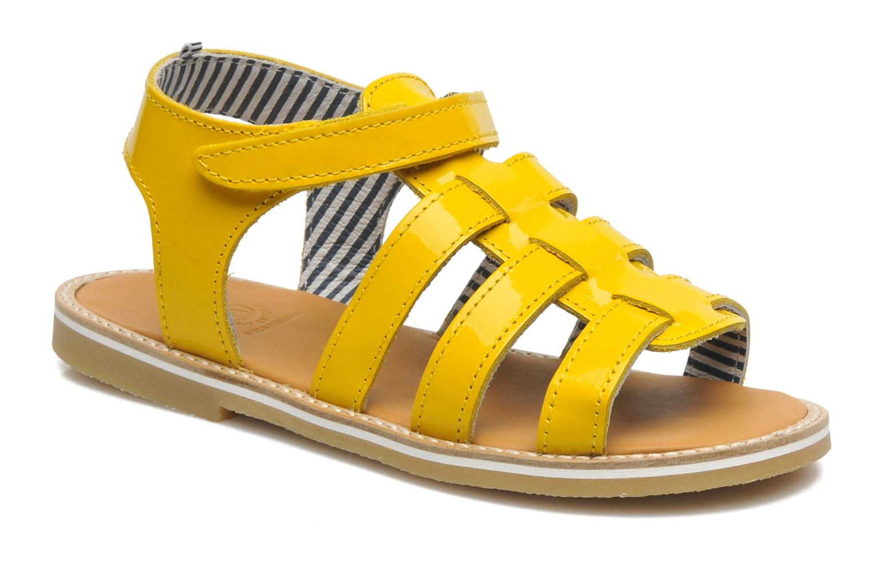 Sandales et nu-pieds Petit bateau Nut Jaune vue détail/paire