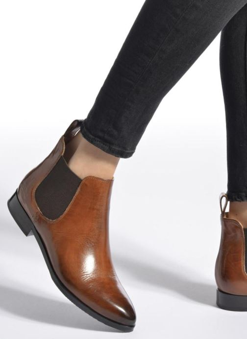 Ankle boots Melvin & Hamilton Jessy 1 Brown view from underneath / model view