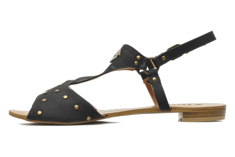 Sandales et nu-pieds Kaporal Paddy Noir vue face