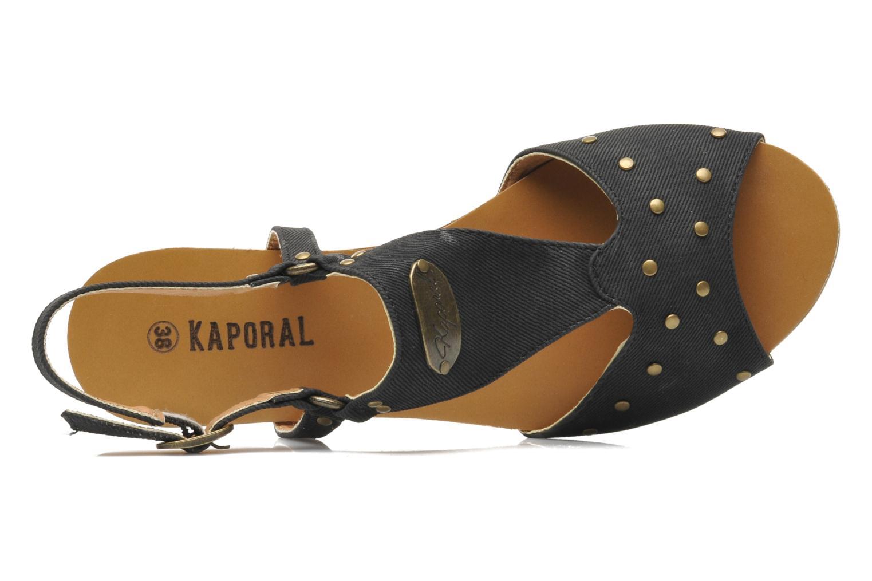 Sandales et nu-pieds Kaporal Paddy Noir vue gauche