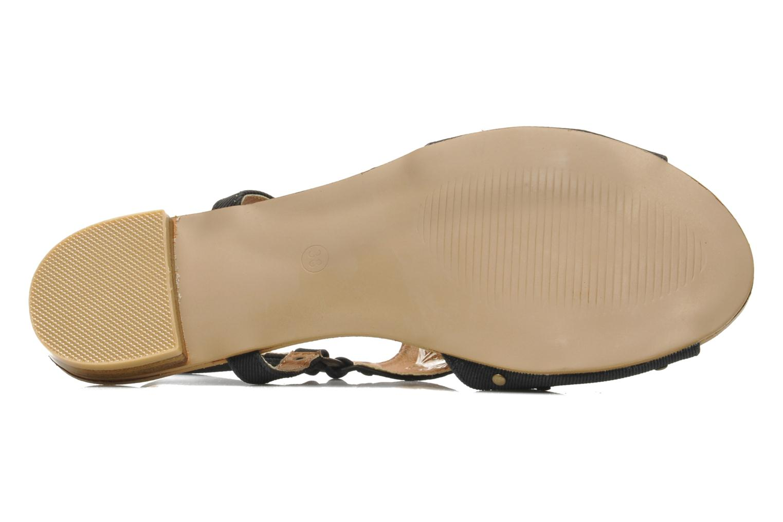 Sandales et nu-pieds Kaporal Paddy Noir vue haut