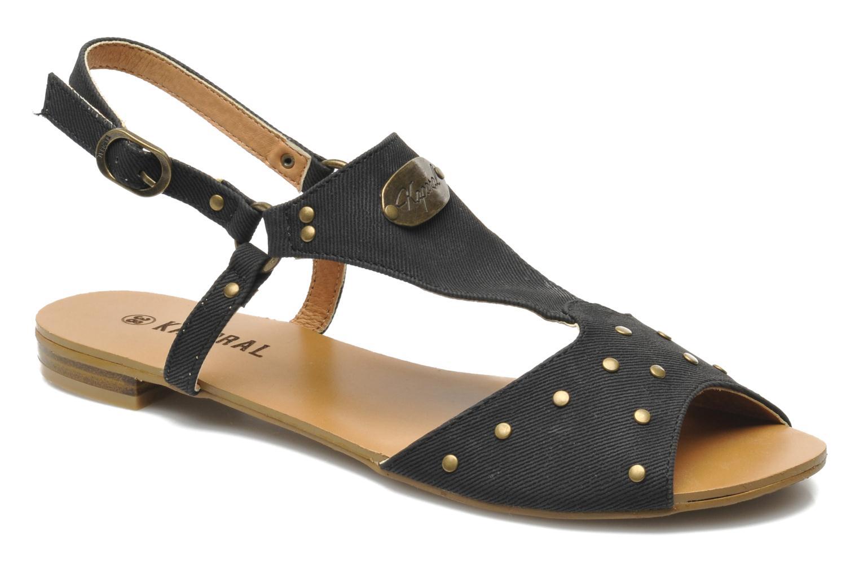 Sandales et nu-pieds Kaporal Paddy Noir vue détail/paire