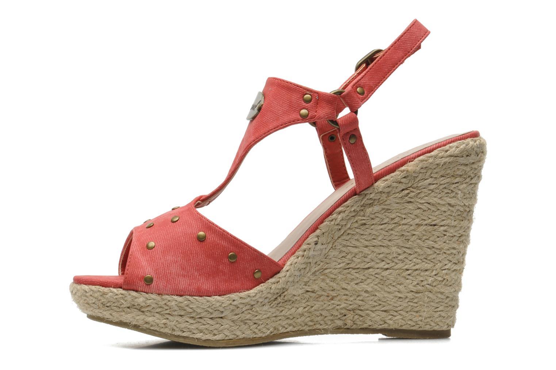 Sandales et nu-pieds Kaporal Ronny Rouge vue face