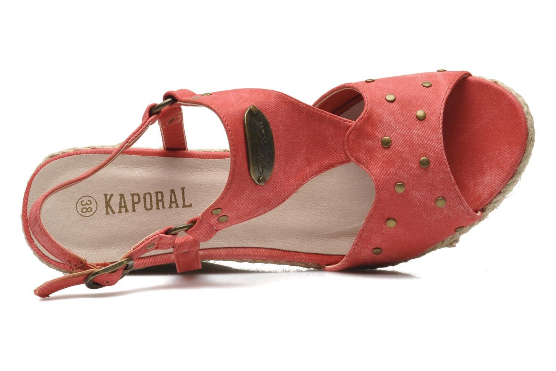 Sandales et nu-pieds Kaporal Ronny Rouge vue gauche