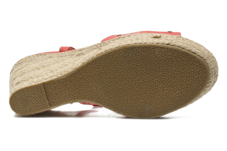 Sandales et nu-pieds Kaporal Ronny Rouge vue haut