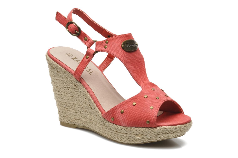 Sandales et nu-pieds Kaporal Ronny Rouge vue détail/paire