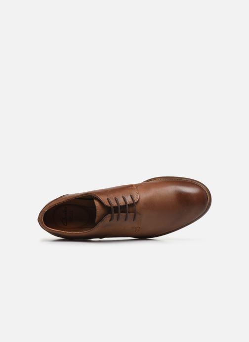 Zapatos con cordones Clarks Exton Walk Marrón vista lateral izquierda