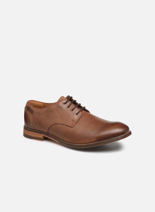 Zapatos con cordones Clarks Exton Walk Marrón vista de detalle / par