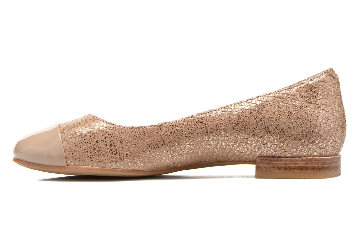 Ballerines Clarks Festival Gold Or et bronze vue face