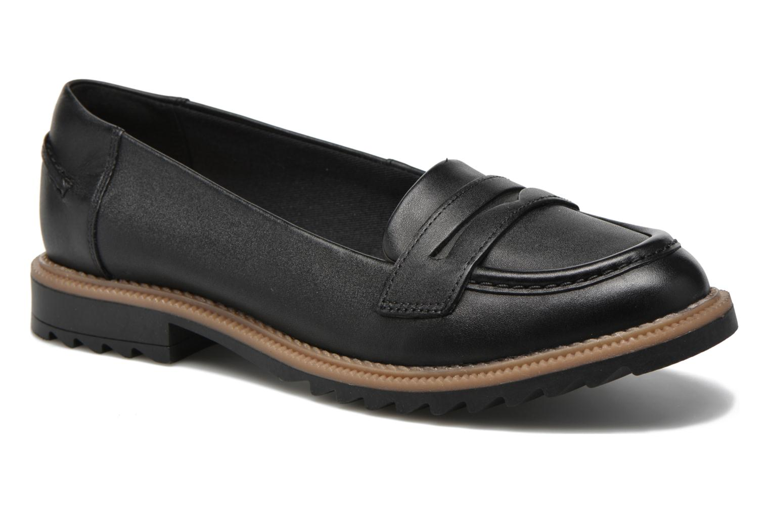 Loafers Clarks Griffin Milly Black detailed view/ Pair view