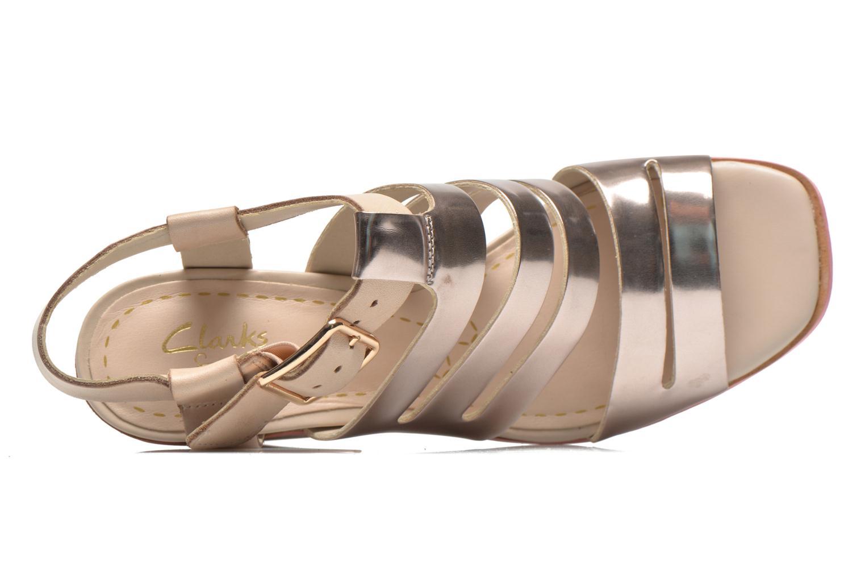 Sandales et nu-pieds Clarks Ski Tropical Or et bronze vue gauche