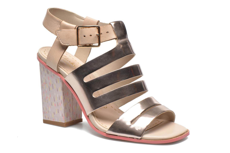Sandales et nu-pieds Clarks Ski Tropical Or et bronze vue détail/paire