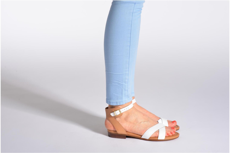Sandales et nu-pieds Clarks Viveca Zeal Blanc vue bas / vue portée sac