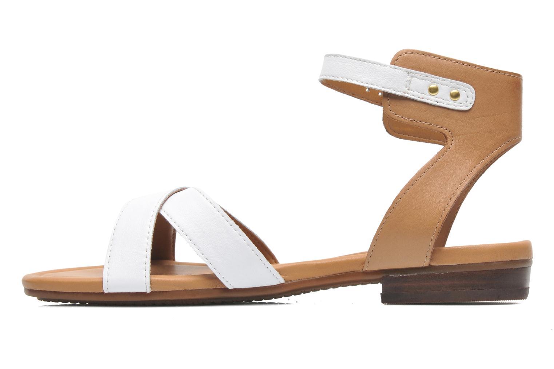 Sandales et nu-pieds Clarks Viveca Zeal Blanc vue face