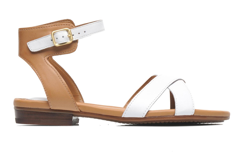 Sandales et nu-pieds Clarks Viveca Zeal Blanc vue derrière