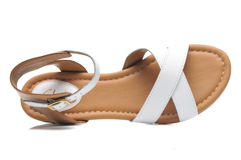 Sandales et nu-pieds Clarks Viveca Zeal Blanc vue gauche