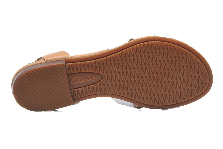 Sandales et nu-pieds Clarks Viveca Zeal Blanc vue haut