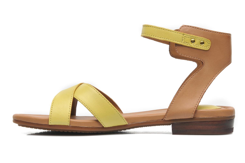 Sandali e scarpe aperte Clarks Viveca Zeal Giallo immagine frontale