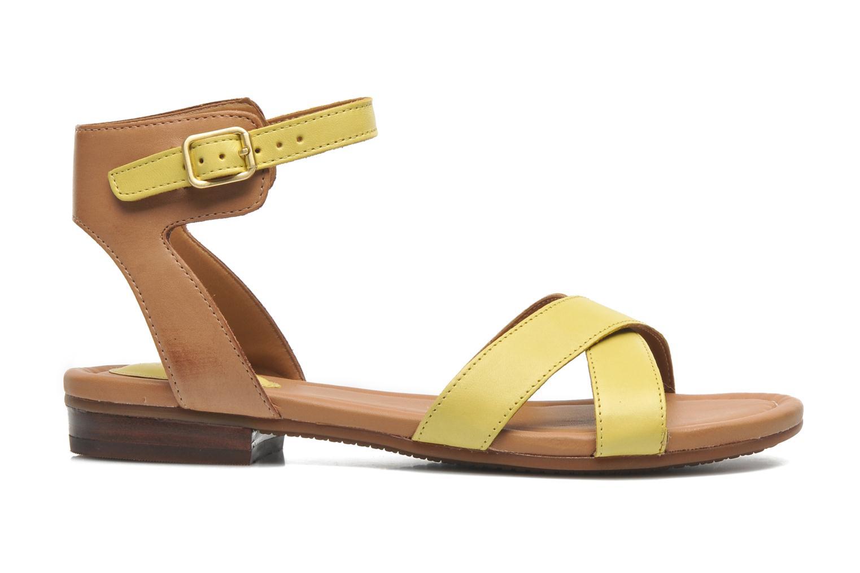 Sandali e scarpe aperte Clarks Viveca Zeal Giallo immagine posteriore