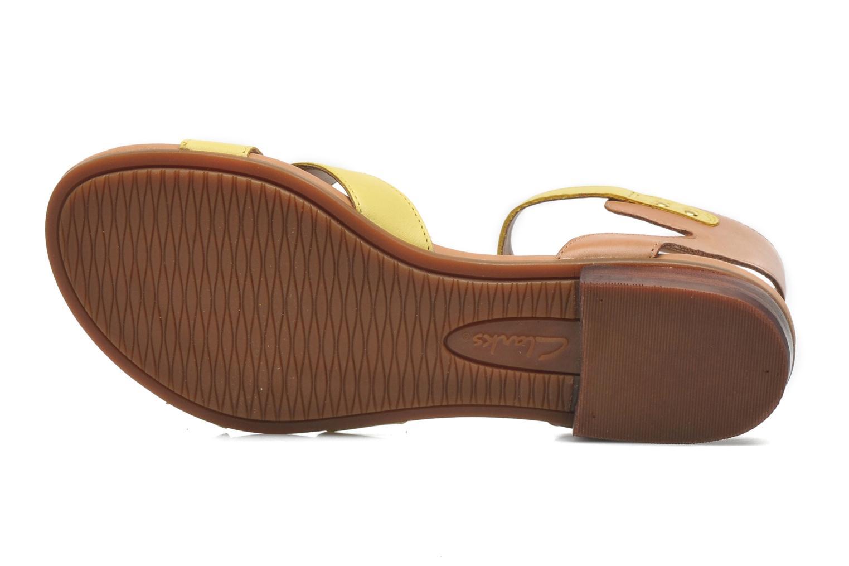 Sandali e scarpe aperte Clarks Viveca Zeal Giallo immagine dall'alto