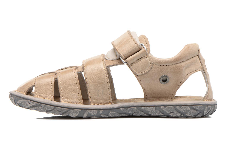 Sandales et nu-pieds Noël BOON Beige vue face