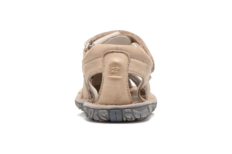 Sandales et nu-pieds Noël BOON Beige vue droite