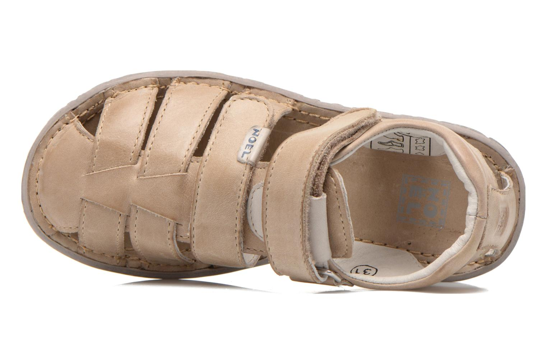 Sandales et nu-pieds Noël BOON Beige vue gauche